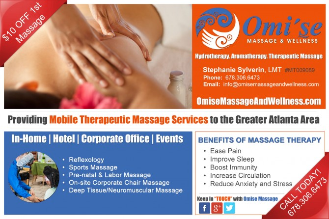 Omi'se Massage and Wellness Marketing Collateral